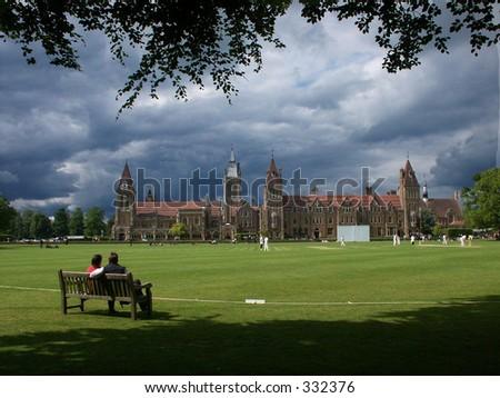 Cricket in England - stock photo