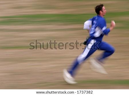 Cricket Player - stock photo