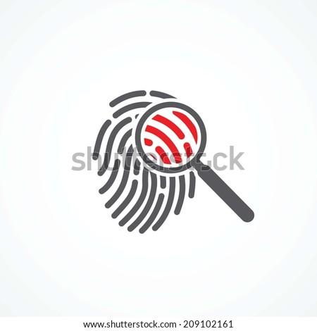 Crime icon - stock photo