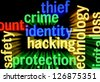 Crime identity hacking - stock photo