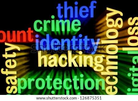 Crime identity hacking - stock photo