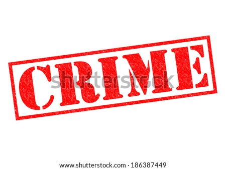 CRIME red Rubber Stamp over a white background. - stock photo