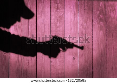 Crime Scene Black Silhouette Shadow Vintage Background. You can see more criminal scene in my CRIME public set. - stock photo
