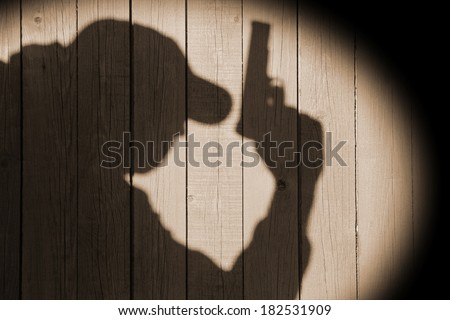 Crime Scene Black Silhouette Vintage Background. You can see more criminal scene in my public set. - stock photo