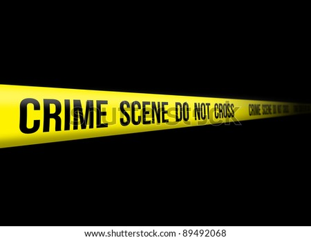 Crime Scene Do Not Cross - stock photo