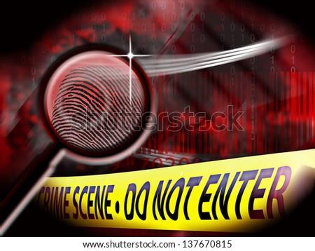 Crime Scene investigation - stock photo