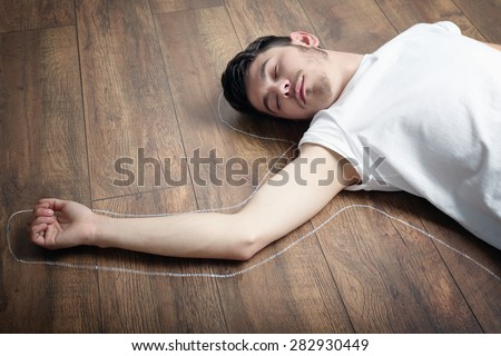 Guy Lying On The Floor Wanking