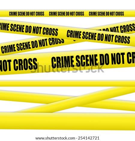Crime scene tape - stock photo