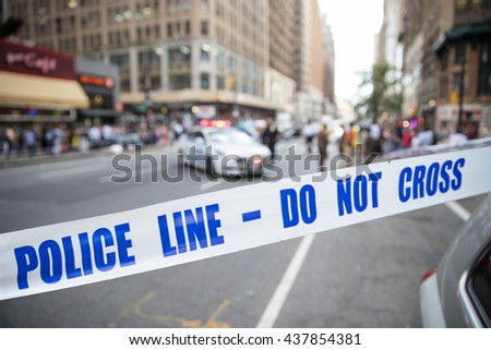 crime scene tape - stock photo