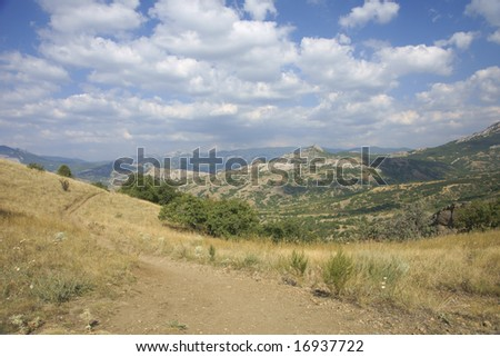 Crimea. Crimean mountains. Mountain the Kara-Dag