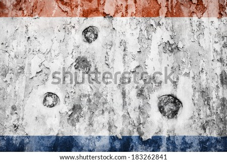 Crimea flag on a weathered grunge background - stock photo