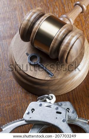Criminal law  - stock photo