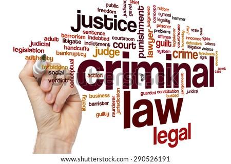 Criminal law word cloud concept - stock photo