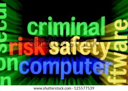 Criminal safety computer - stock photo