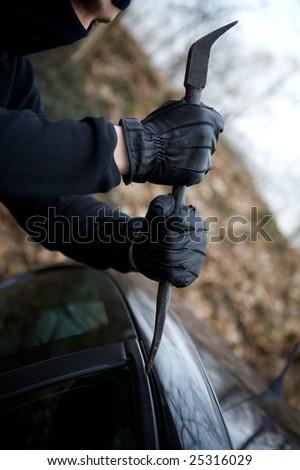 criminal thief of  property violation - stock photo
