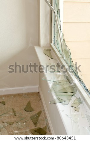 Criminals broke into home and stole, guns,laptop and jewelry, police dusted for prints - stock photo