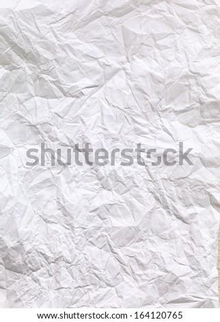 crimp White Paper texture sheet background - stock photo