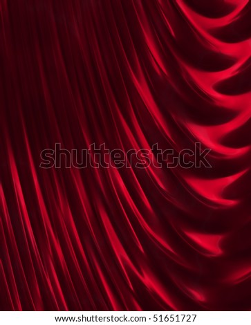 crimson curtain - stock photo