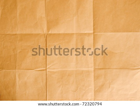 Crinkled brown paper - stock photo