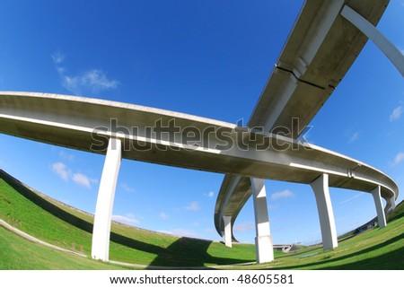 Cris crossing South Florida Expressways - stock photo