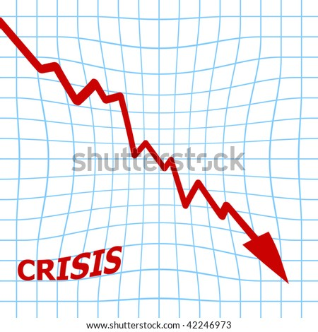 crisis: arrow graph going down