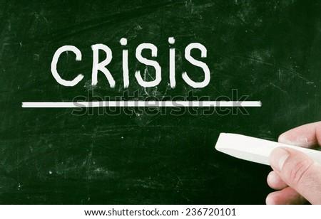 crisis concept - stock photo