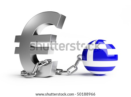 crisis Greece - stock photo