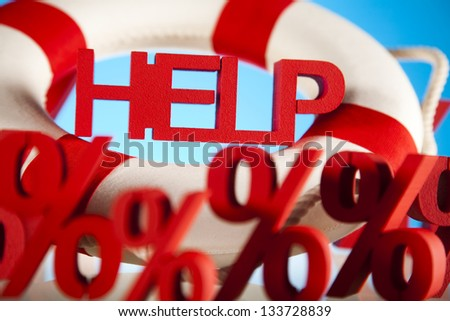 Crisis, Help in finance - stock photo
