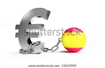 crisis in Spain - stock photo