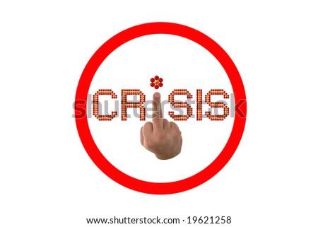 crisis. symbol - stock photo