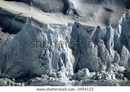 Crisp Antarctic ice - stock photo