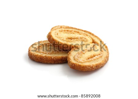 crisp danish isolated in white background - stock photo