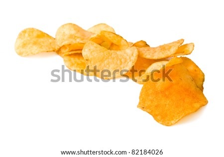 crisp fried chips with seasoning