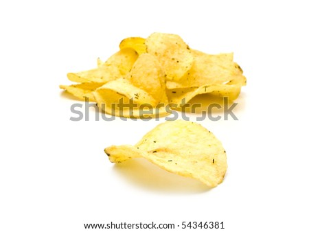 crisp fried chips with seasoning for your illustrations - stock photo