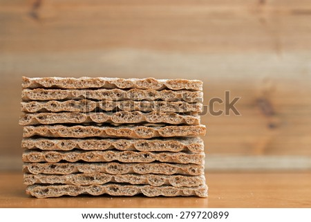 Crispbread closeup   - stock photo
