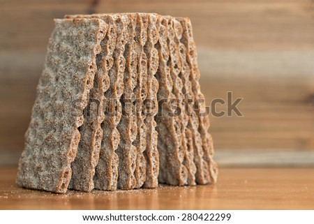 Crispbread closeup (5)  - stock photo