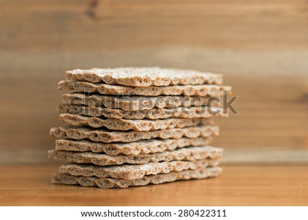 Crispbread closeup (4)  - stock photo