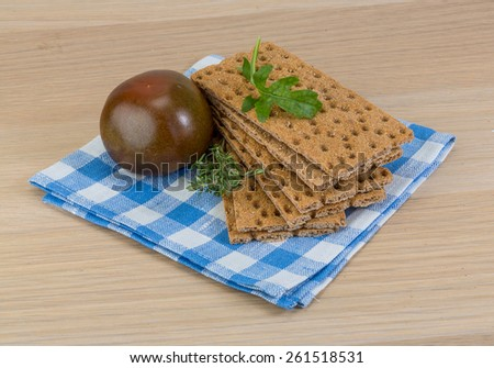 Crispbread - fresh dietary food for health breakfast - stock photo