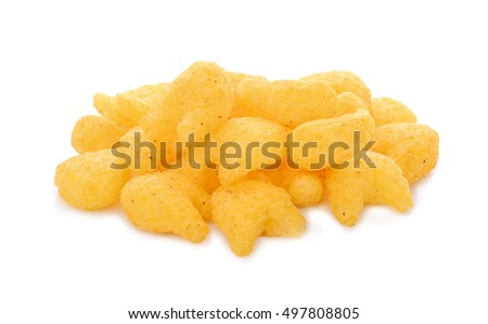 crispy cracker isolated on white