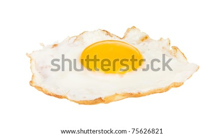 Crispy fried chicken egg isolated on white background
