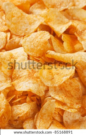 crispy potato chips background