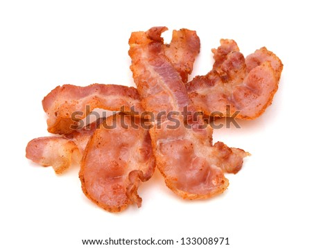 Crispy strips of bacon - stock photo