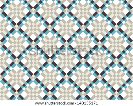 Criss-Crossed Pattern in Neutrals and Blue
