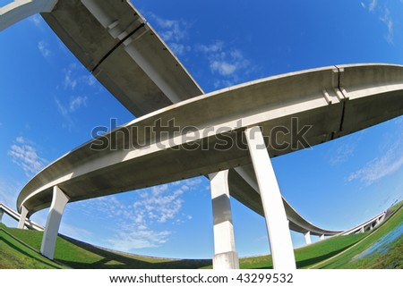 Crisscross expressways over South Florida .