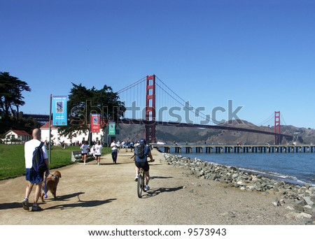 Crissy Field Park, Golden Gate, San Francisco - stock photo
