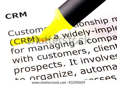 CRM - stock photo