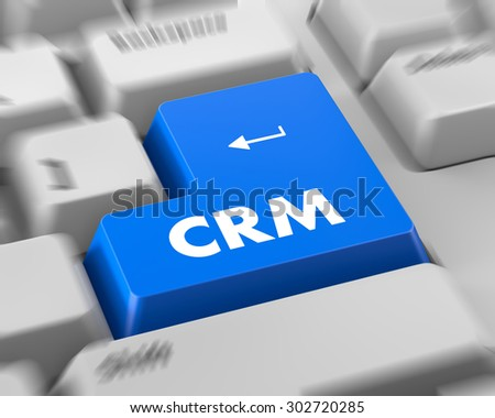 CRM - Business Concept. Button on Modern Computer Keyboard.