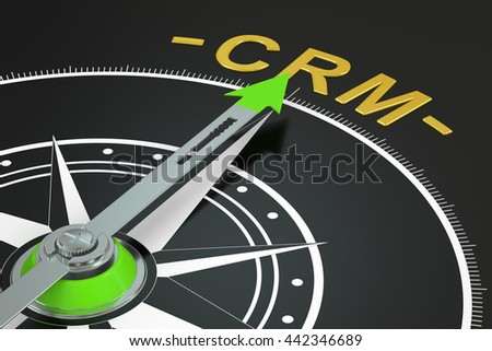CRM compass concept, 3D rendering - stock photo
