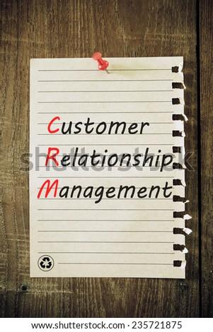CRM customer relation management abbreviation  - stock photo