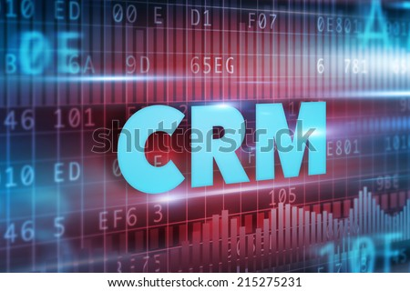 CRM - Customer Relationship Management concept blue text - stock photo